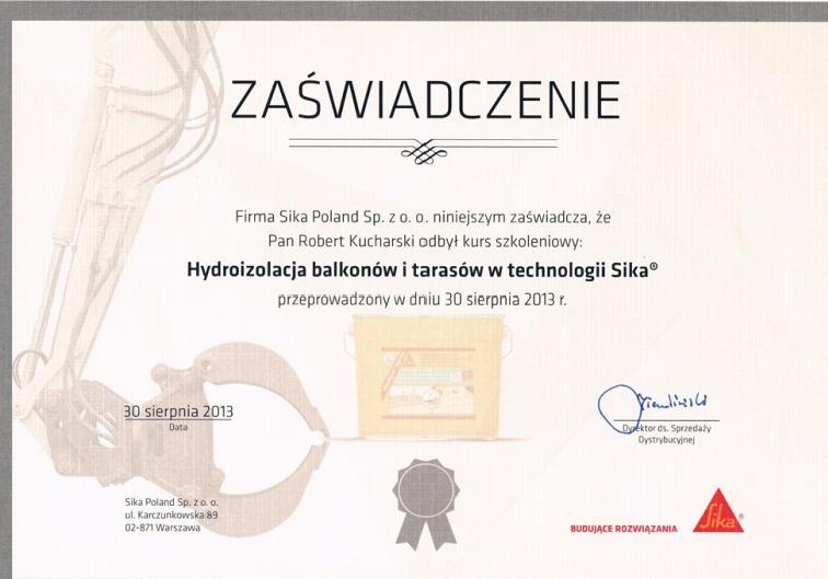 certyfikat sika