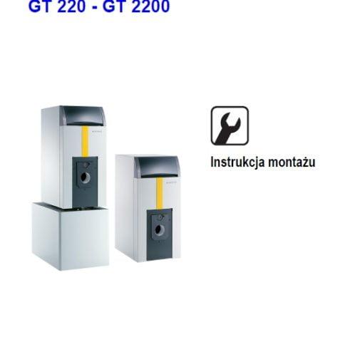 De dietrich olejowo-gazowy kocioł grzewczy GT 220 - GT 2200 - Instrukcja montażu