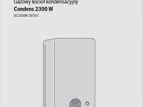Instrukcja montażu i konserwacji dla instalatora Junkers Bosch Condens 2300