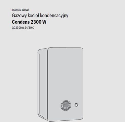 Instrukcja obsługi Junkers Bosch Condens 2300