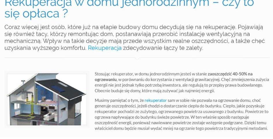 Rekuperacja w domu jednorodzinnym – czy to się opłaca