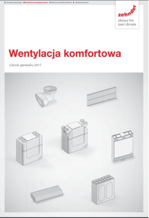 Wentylacja komfortowa - Cennik generalny 2017
