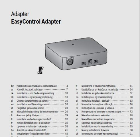 Instrukcja montażu Bosch EasyControl adapter ON-OFF i OpenTherm
