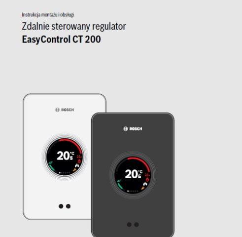 Instrukcja montażu i obsługi Bosch EasyControl CT200
