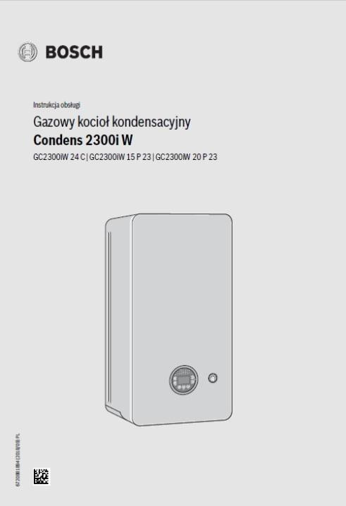 Bosch Condens 2300i W Instrukcja obsługi Gazowy kocioł kondensacyjny