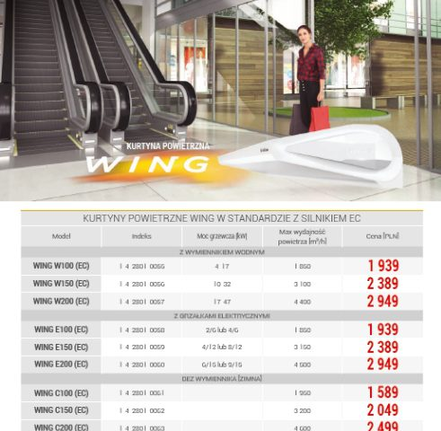 Cennik VTS Wing