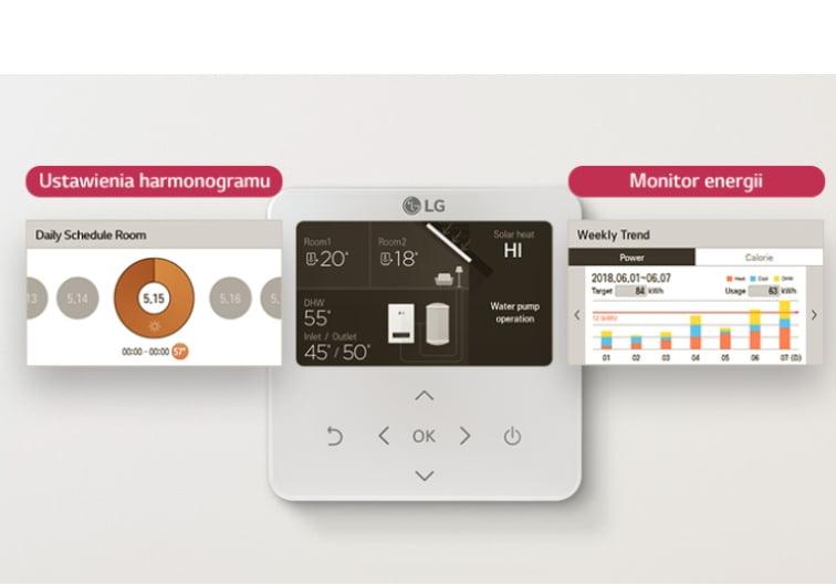 LG Therma V R32 Monobloc - sterownie