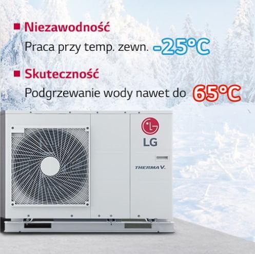 LG monoblok zakres temperatur