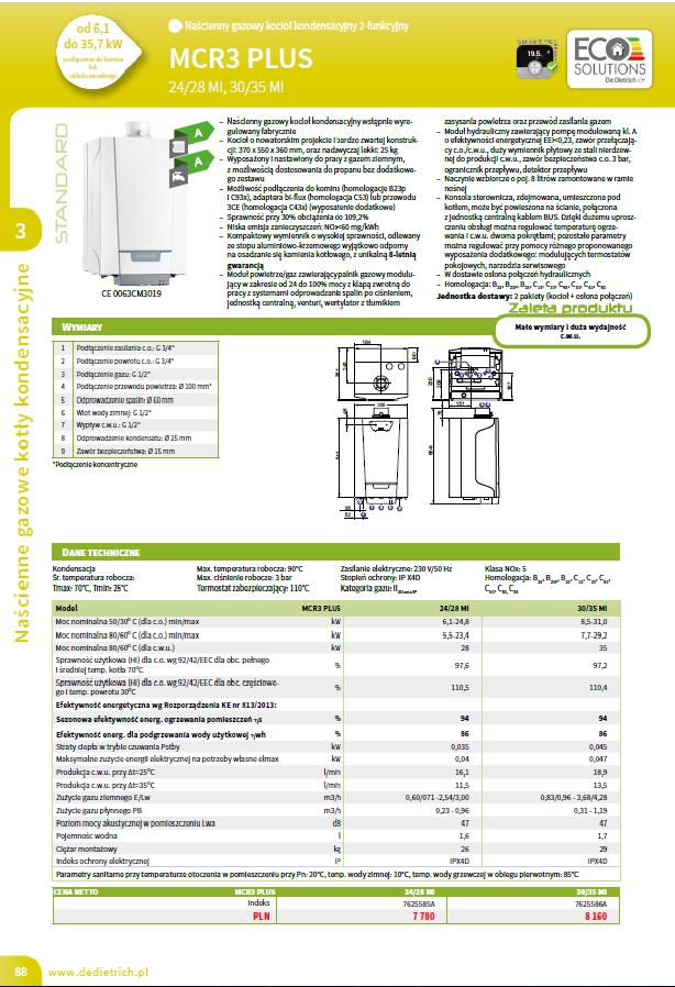 Dane techniczne MCR3 PLUS MI