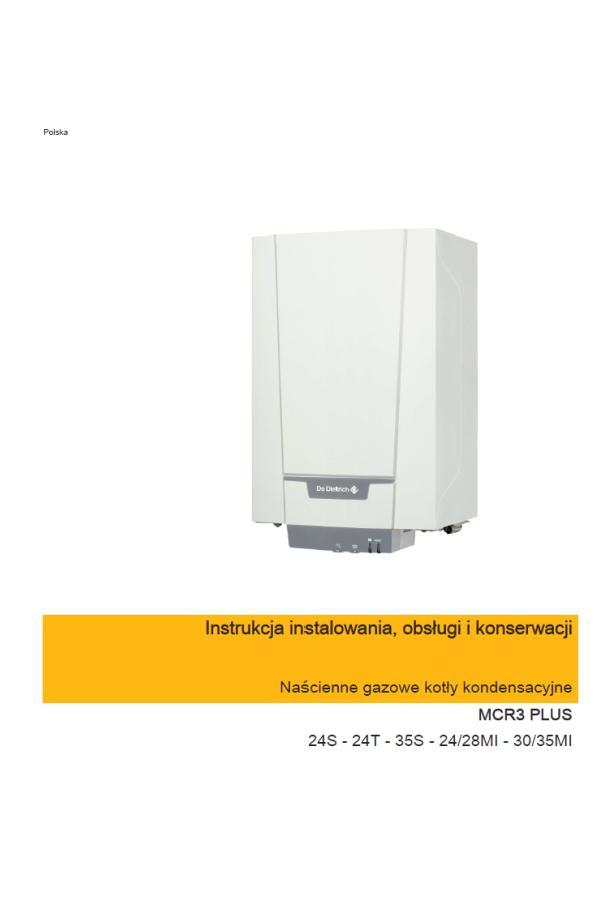 De Dietrich MCR3 PLUS – Instrukcja obsługi