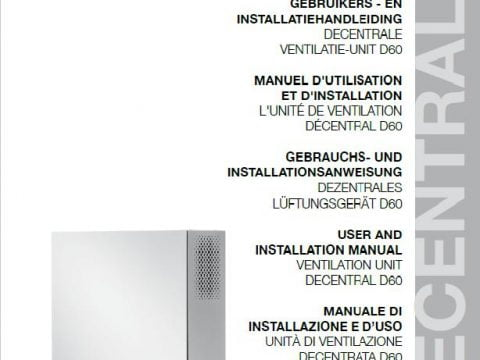 Instrukcja montażu i uruchomienia rekuperatora decentralnego VASCO D60