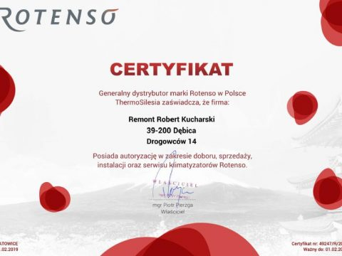 Autoryzowany rotenso - 2020