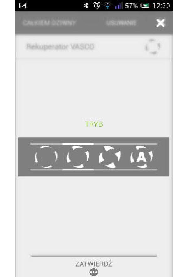 Bramka Vasco WiFi - Do każdego stylu życia można przypisać wybrany tryb pracy rekuperatora.