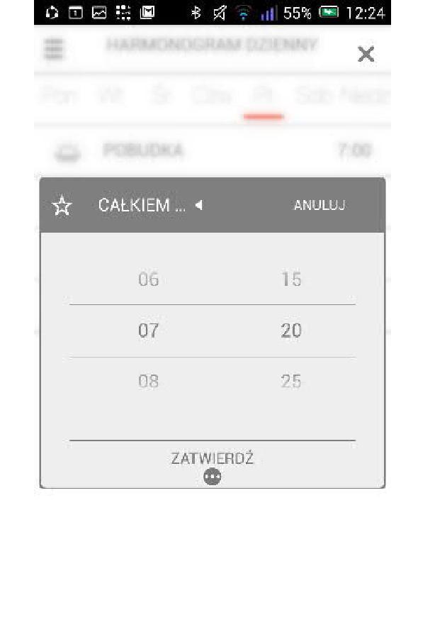 Bramka Vasco WiFi - Można tworzyć całkiem indywidualne programy dla każdego dnia, określając przedziały czasowe.