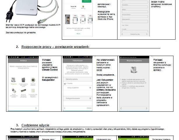 Bramka Vasco WiFi instrukcja do aplikacj - 2019