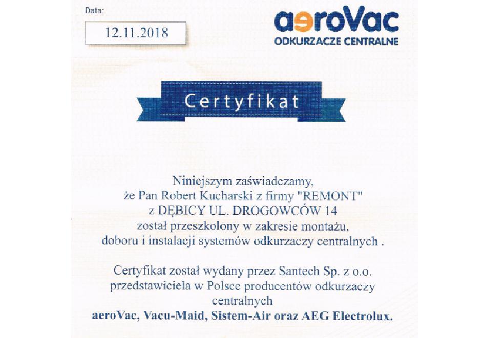 Certyfikat santech - odkurzacze 2018 - poz