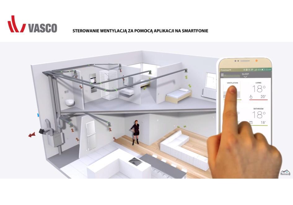 Sterowanie rekuperatorem Vasco za pomocą smartfona