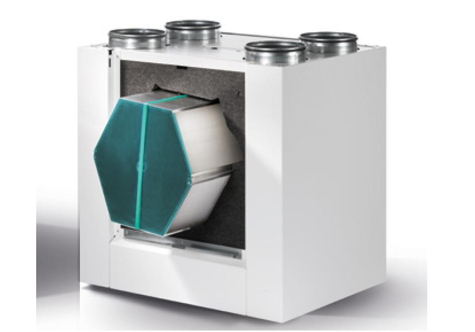Rekuperator z dostępem do wymiennika, wentylatorów i płyty sterowania