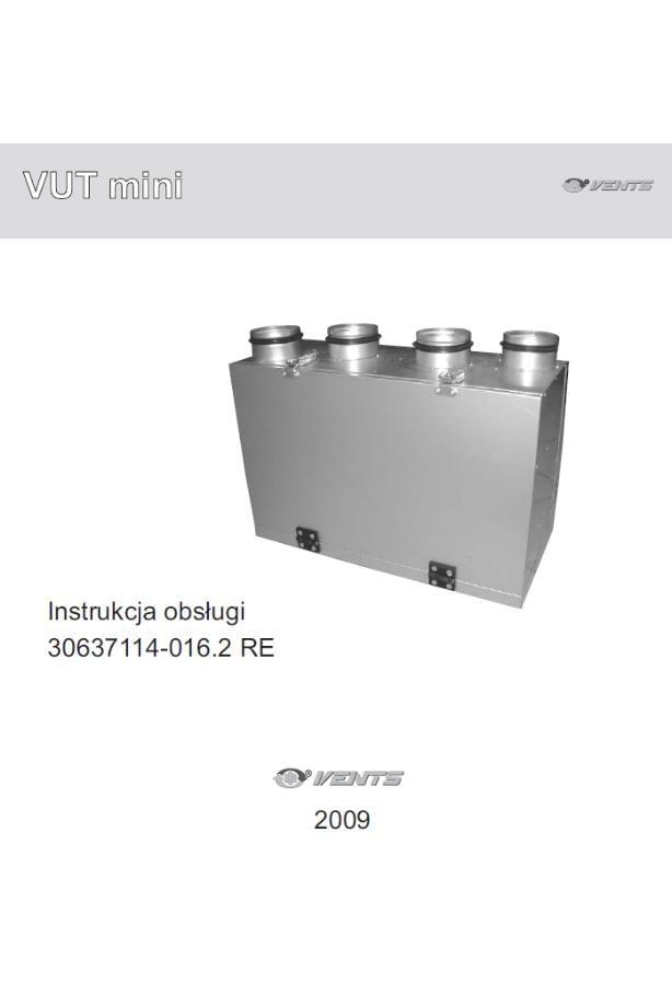 Instrukcja obsługi VUT H-V MINI