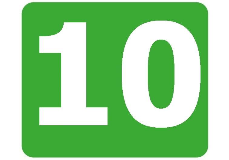 10 - zielona