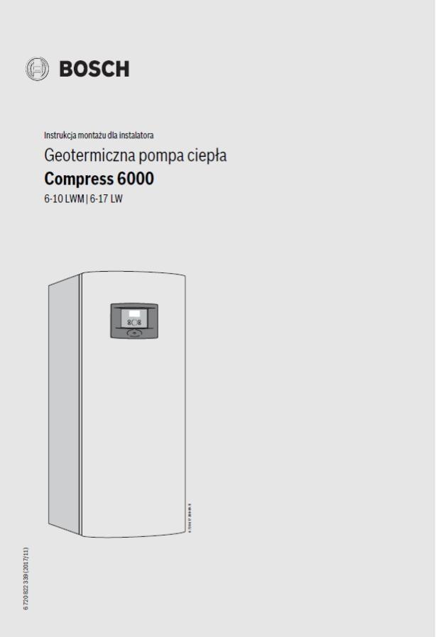 Instrukcja montażu dla instalatora BOSCH COMPRESS 6000 - A