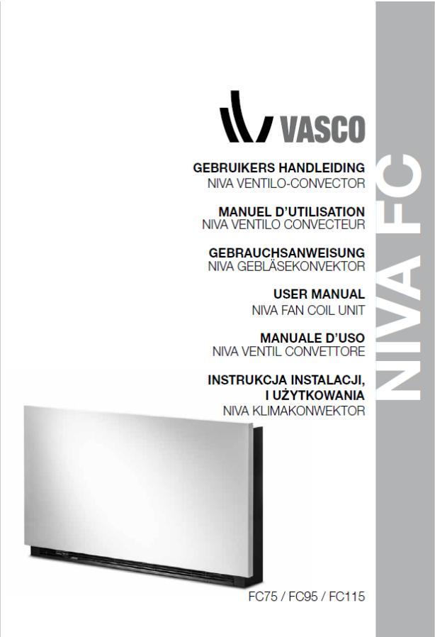 VASCO NIVA VENTILO - instrukcja instalacji i użytkowania - A