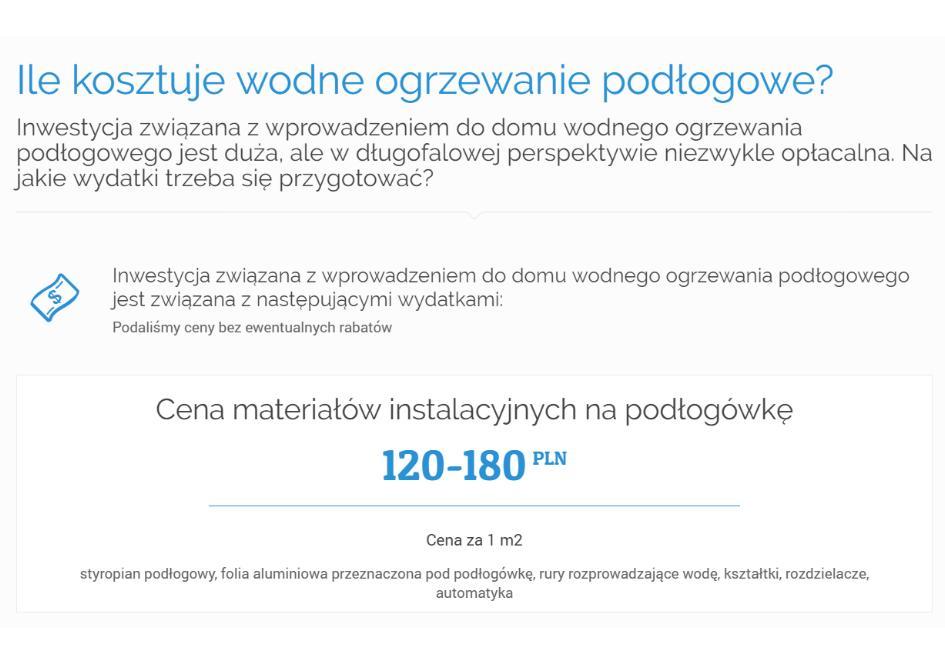 Ile kosztuje wodne ogrzewanie podłogowe-1A