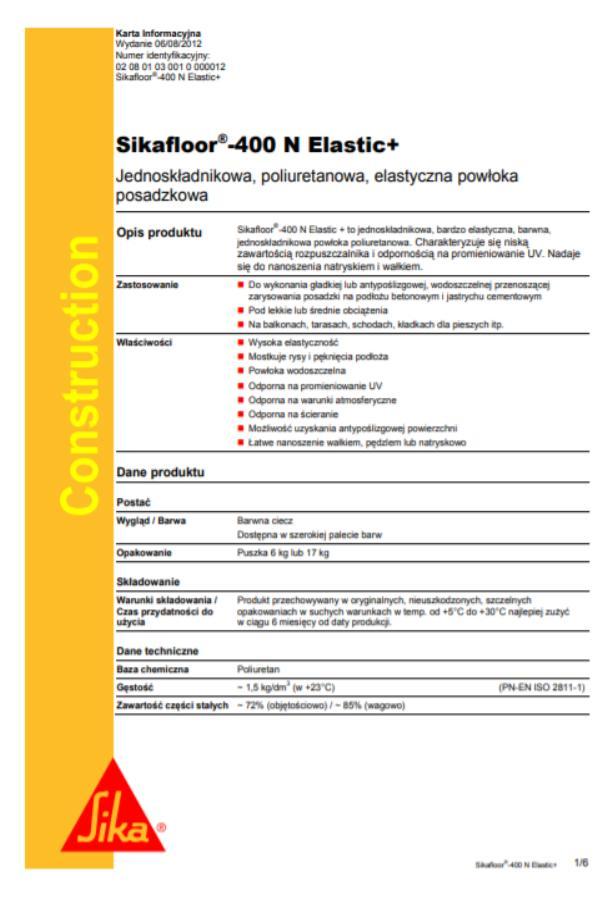 sikafloor 400 - 1
