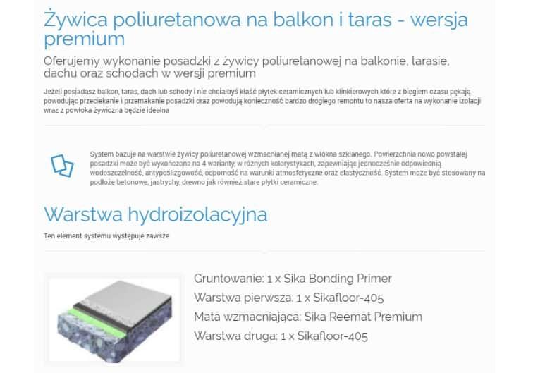żywica Poliuretanowa Na Balkon I Taras Wersja Premium