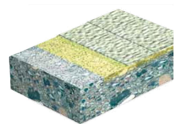 Barwna, sztywna posadzka o fakturowanej powierzchni