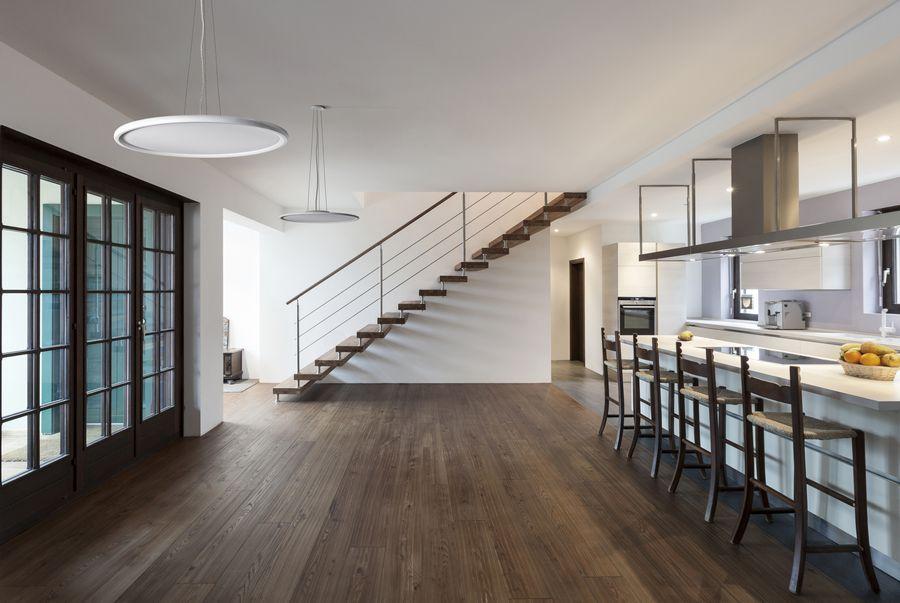 Beautiful modern loft, view of the kitchen