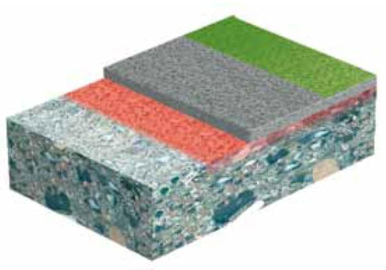 Samozagładzający podkład na bazie cementu o grubości 5 – 25 mm, paroprzepuszczalny