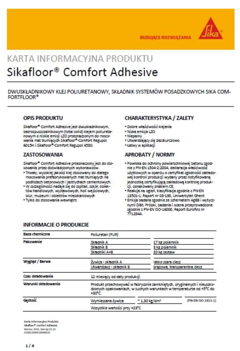 Sikafloor Comfort Adhesive - A