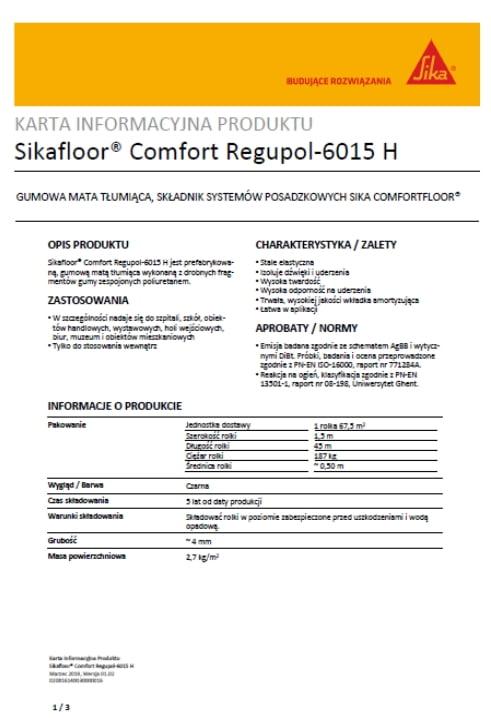 Sikafloor Comfort Regupol-6015 H - A