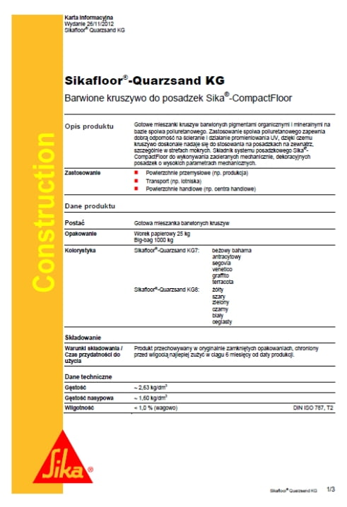 Sikafloor Quarzsand KG - A