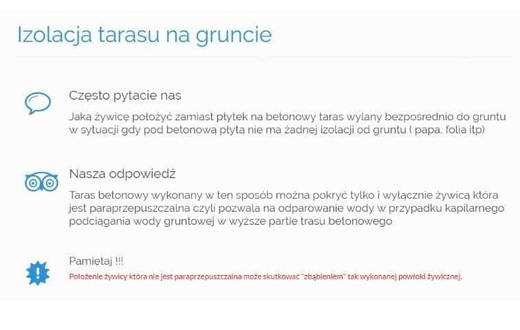 Izolacja tarasu na gruncie - NK