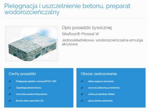 Pielęgnacja i uszczelnienie betonu, preparat wodorozcieńczalny