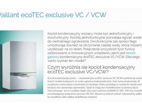 Vaillant ecoTEC exclus-ive VC - VCW