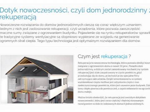 Dotyk nowoczesności, czyli dom jednorodzinny z rekuperacją