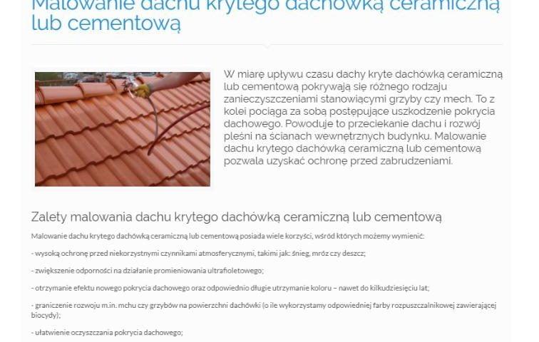 Malowanie dachu krytego dachówką ceramiczną lub cementową