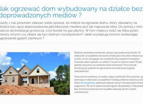 Jak ogrzewać dom wybudowany na działce bez doprowadzonych mediów