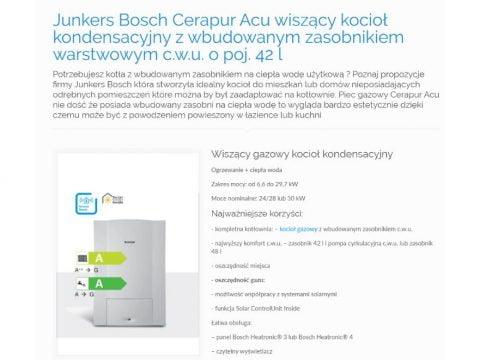 Junkers Bosch Cerapur Acu