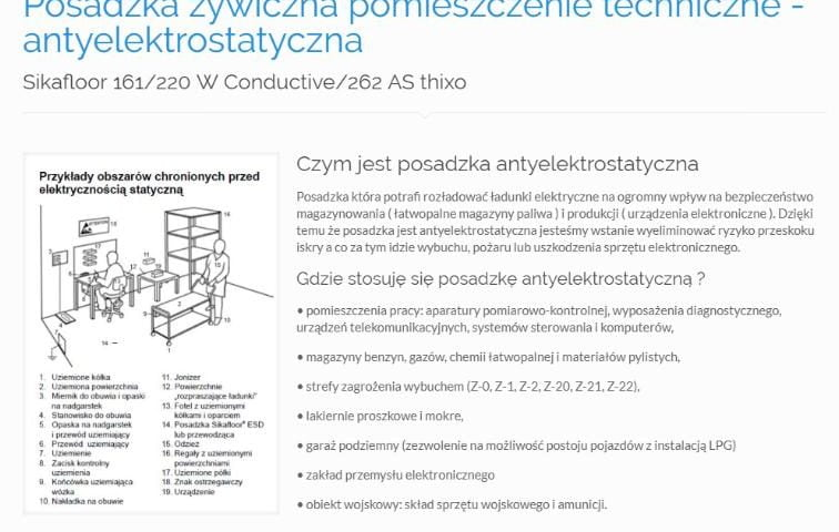 Posadzka żywiczna pomieszczenie techniczne - antyelektrostatyczna