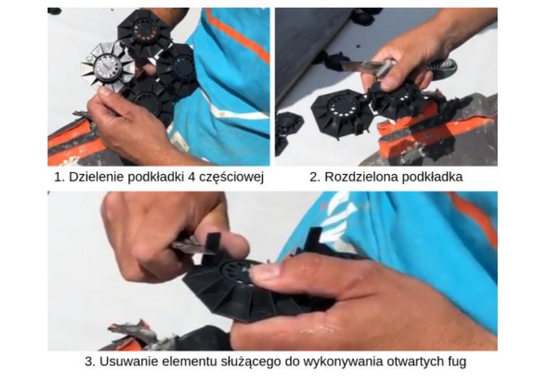 Fot. Dzielenie podkładek tarasowych