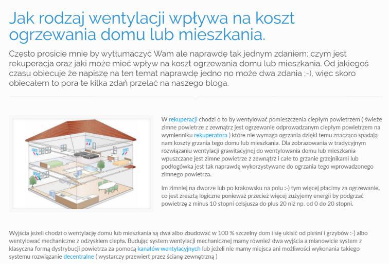 Jak rodzaj wentylacji wpływa na koszt ogrzewania domu lub mieszkania