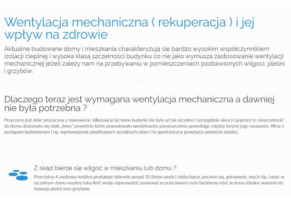 Wentylacja mechaniczna ( rekuperacja ) i jej wpływ na zdrowie