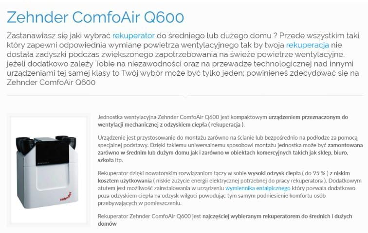 Zehnder ComfoAir Q600