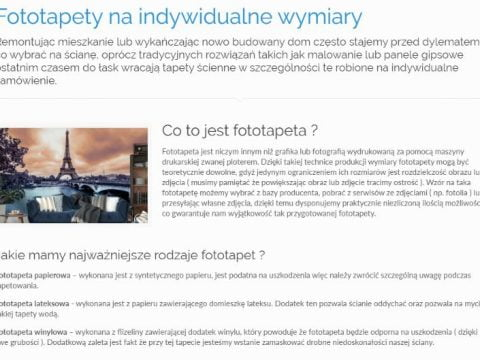Fototapety na indywidualne wymiary