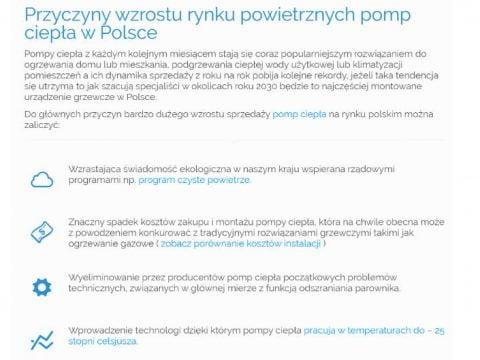Przyczyny wzrostu rynku powietrznych pomp ciepła w Polsce