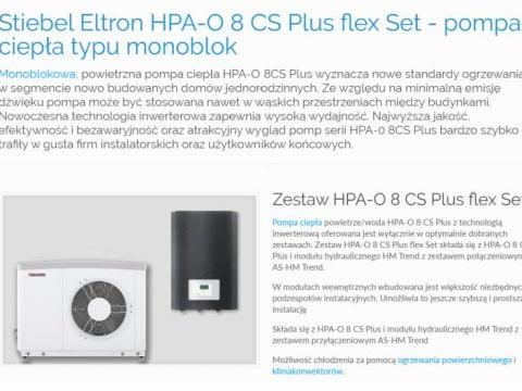 Stiebel Eltron HPA-O 8 CS Plus flex Set - pompa ciepła typu monoblok